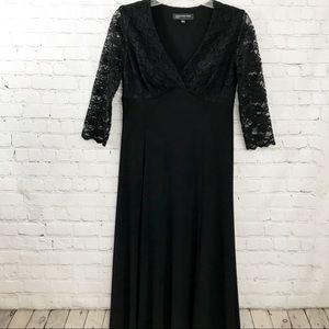 Jones New York Black Dress w/ lace arms size 4